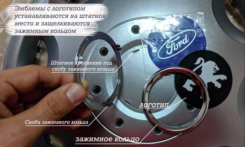 Описание установки логотипов авто на колпаки SKS